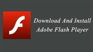 installation du player vidéo flash d'Adobe