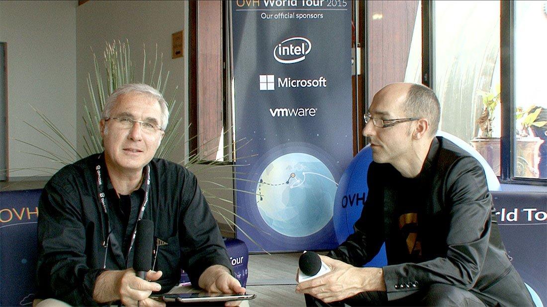 Thierry Jirkovsky de Tv Languedoc reçoit Alexandre Morel, Vice président d'OVH (à droite sur la photo)