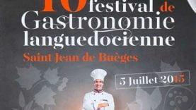 Affiche du Festival gastronomique de Saint Jean de Buèges 2015