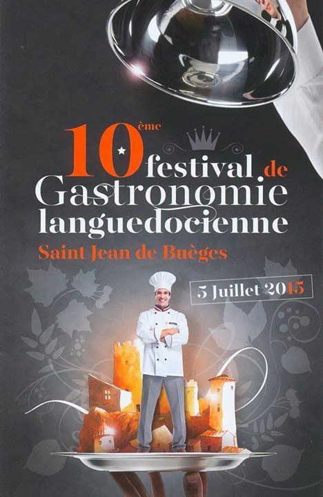Affiche du Festival gastronomie Languedocienne de Saint Jean de Buèges 2015