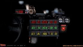 tableau de bord de la Delorean du film Retour vers le Futur