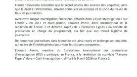 Solidarité de France Télévision pour le journaliste de cash investigation