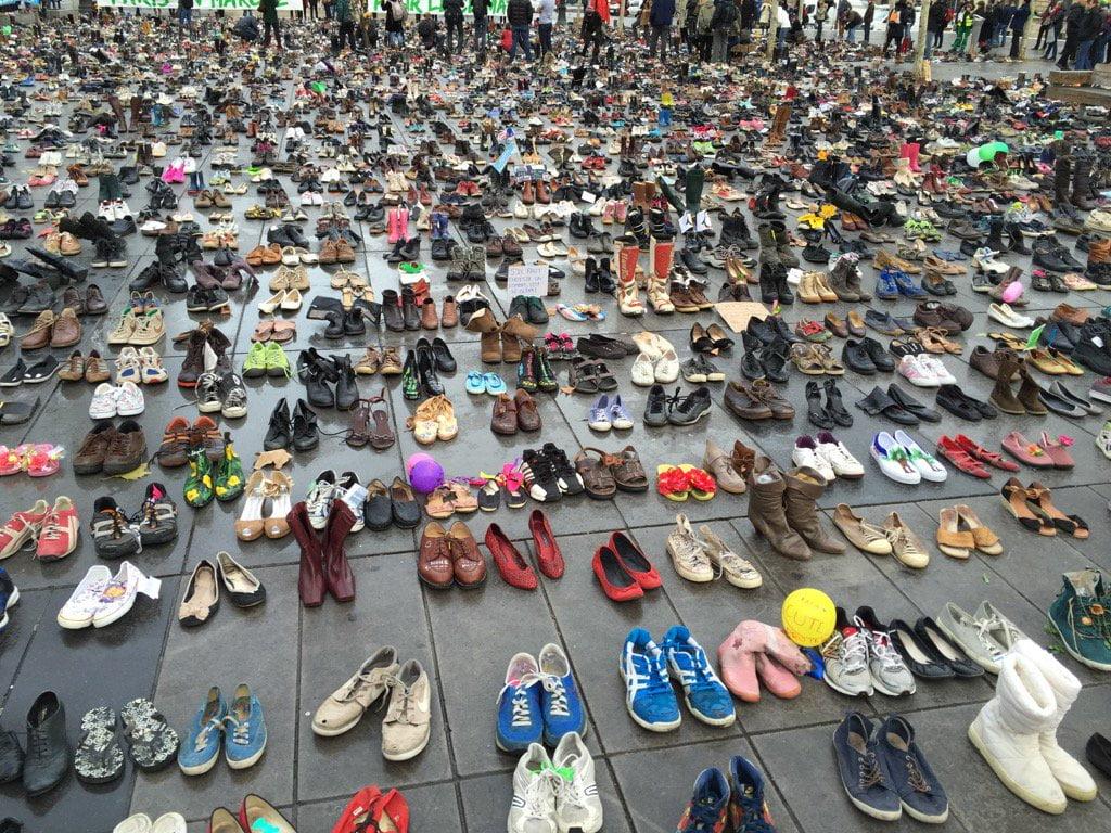 Des milliers de chaussures pour la cop 21