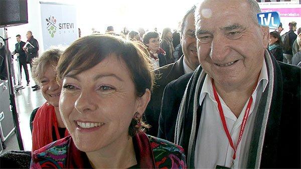 Carole Delga, le sourire aux lèvres, après le discours de Stéphane Le Foll