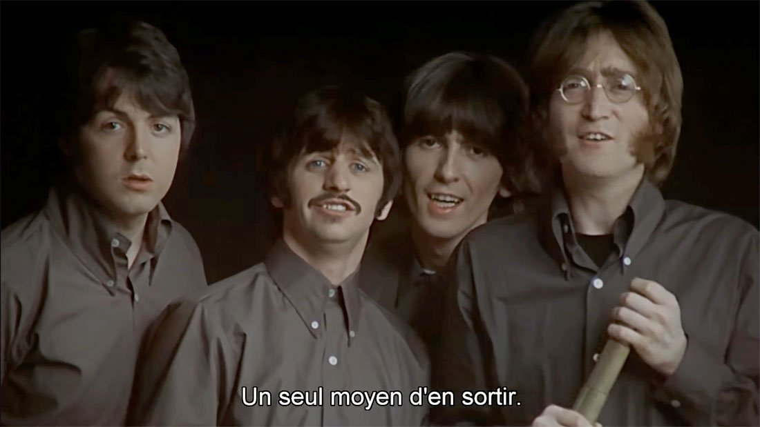 Les Beatles font la promo du film Yellow Submarine