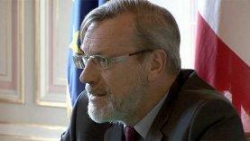 Pierre Pouëssel, le nouveau préfet de l'Hérault pendant sa première conférence de presse