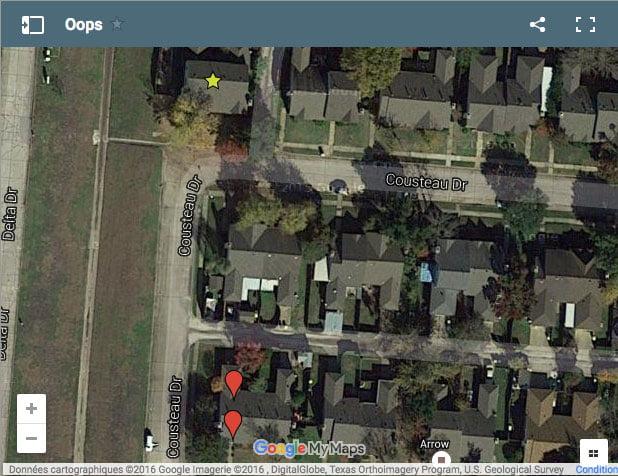 Avant la destruction sur la carte Google Maps
