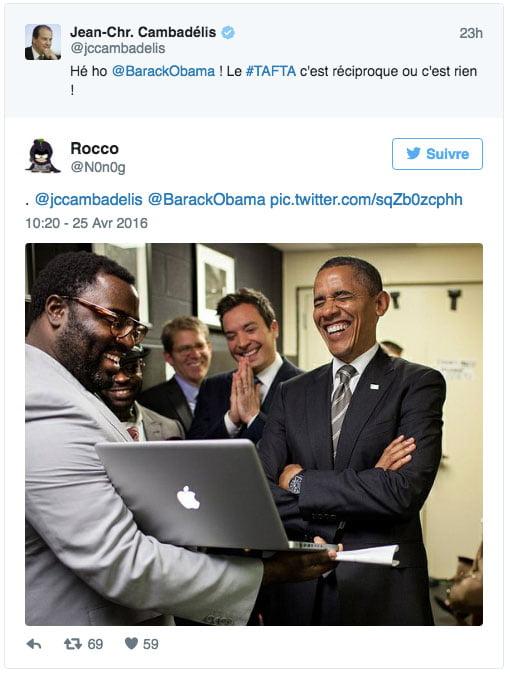 Quand Cambadelis twitte au président Obama ?