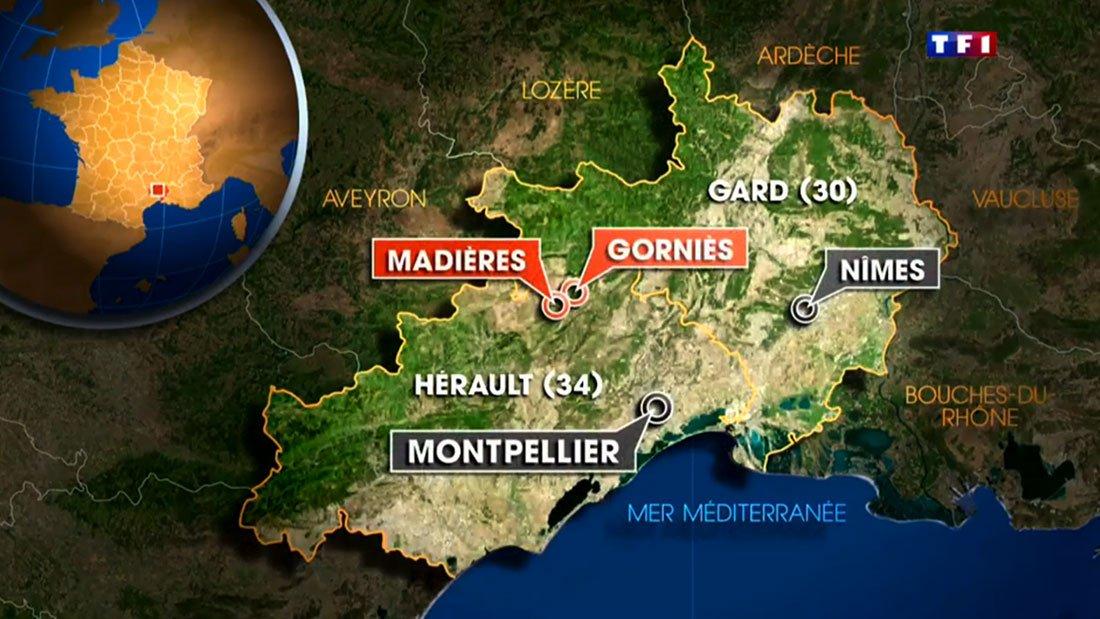 Carte d'une vallée abandonnée … avec les communes de Gornies et Madières