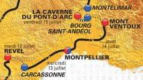 Les étapes 2016 en Languedoc