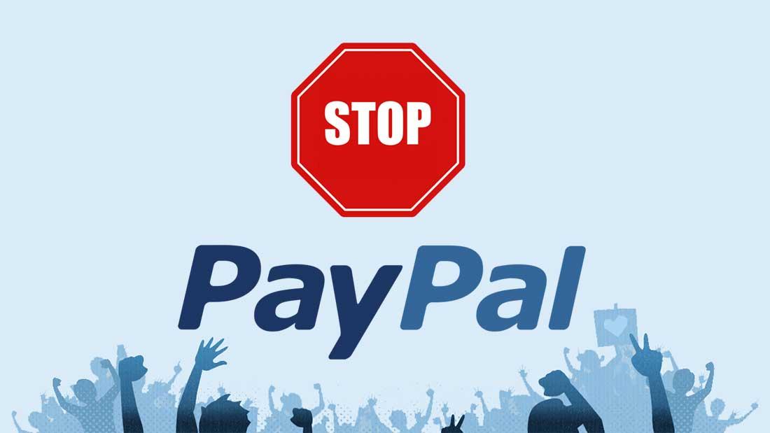 Paypal ne couvre plus les sommes engagées dans des projets de financement participatif.