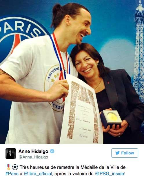 tweet de Anne Hidalgo
