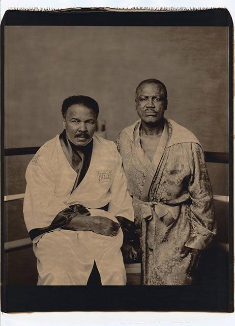 Mohamed Ali et Joe Frazier