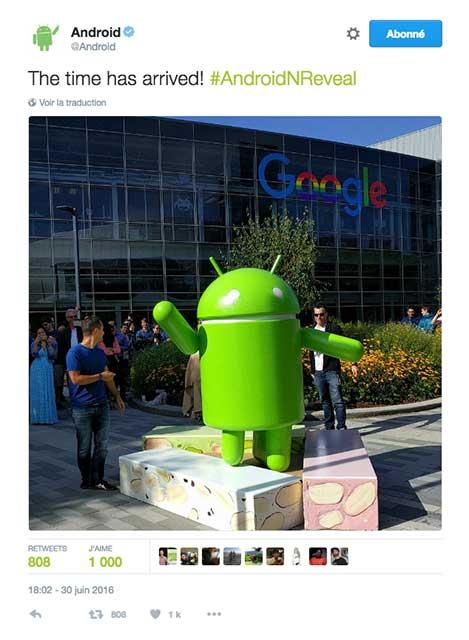 Android Nougat par Google