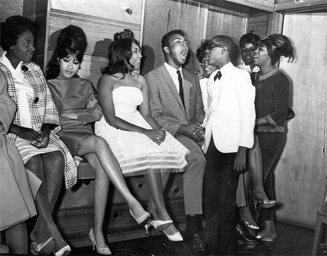 Mohamed Ali et le jeune Stevie Wonder