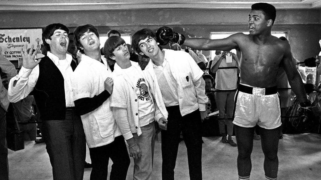 Mohammed Ali et les Beatles en 1964