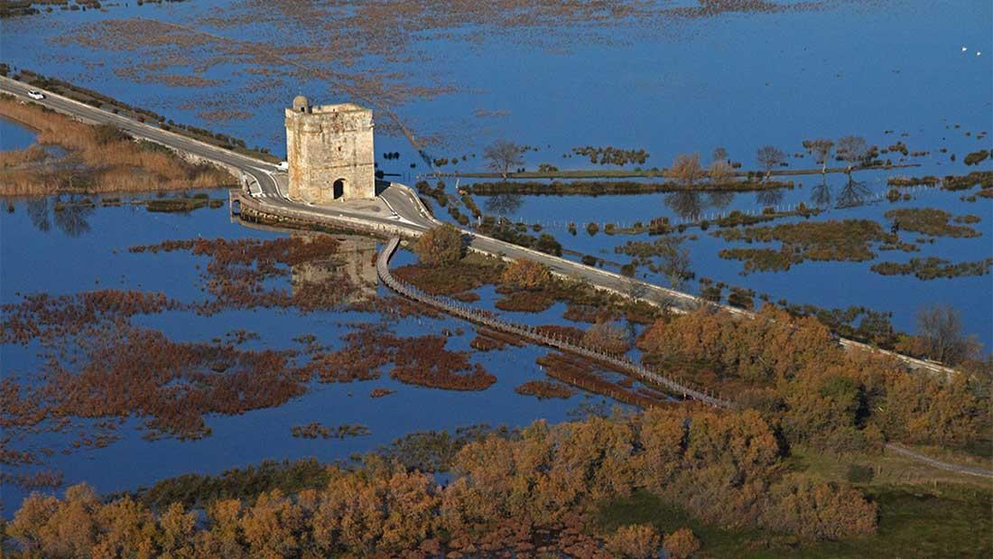 La tour Carbonnière dans la Camargue Gardoise du Languedoc