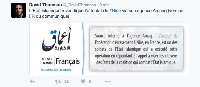 Daech revendique l'attentat de Nice (Français)
