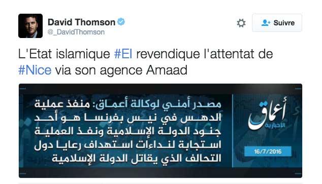 Daech revendique l'attentat de Nice