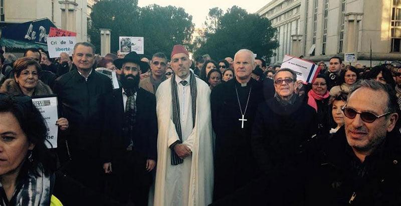 Hubert Allouche présent à l'hommage aux journalistes de Charlie Hebdo