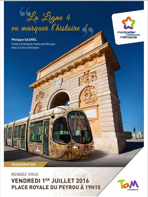 inauguration de la ligne 4 du tramway, vendredi 1 er juillet 2016