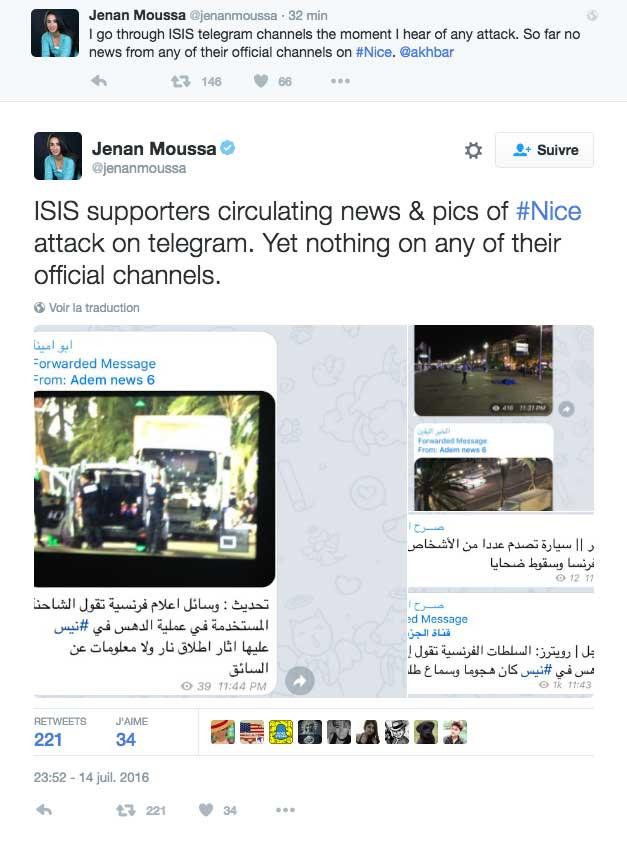 Nice : Point de vue de la journaliste Jenan Moussa