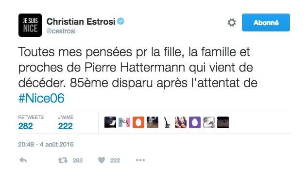 Message de Christian Estrosi, président de la Région PACA.