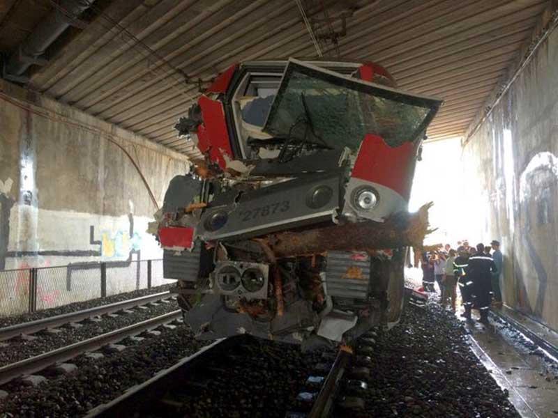 Le Train TER a pris de face un arbre à 140 km/h