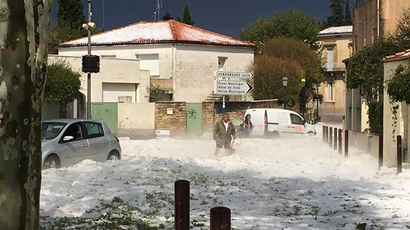 On ressort les parkas d'hivers à Vendargues …le temps que ça fonde …
