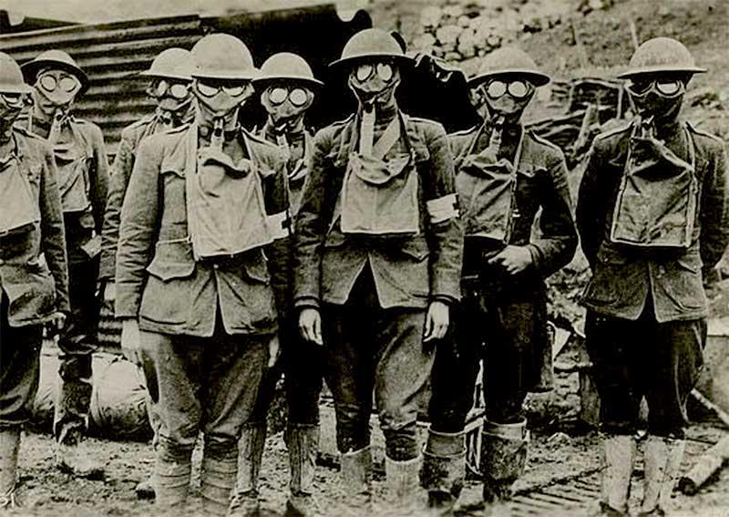 Les masques à gaz … pendant la première guerre mondiale