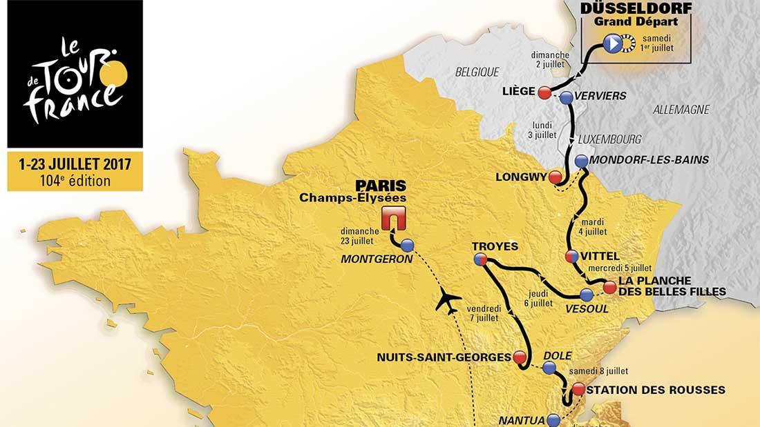 Tour de France 2017 : Le parcours