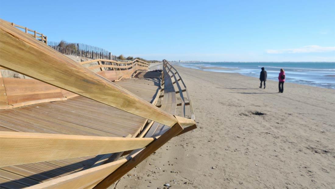 Carnon : la rampe d'accès à la plage détruite et jamais reconstruite.