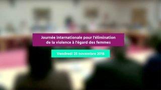 journee internationale pour l'élimination de la violence à l'égard des femmes