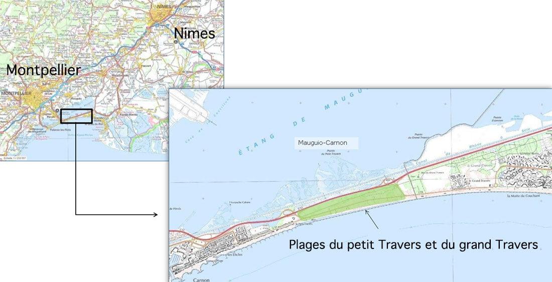 La Plagette de Carnon - situation géographique
