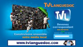 Découvrez le recto du premier flyer de Tv languedoc, réalisé en 2013 par l'agence de communication W5D