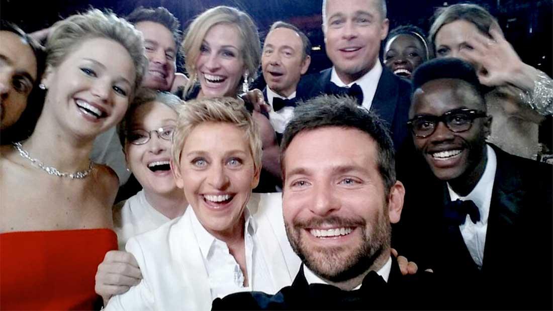 le selfie étoilé d'Ellen DeGeneres pour les Oscars 2014