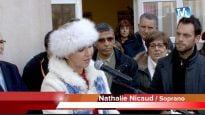 La soprano Nathalie Nicaud chante pour Charlie à Montpellier