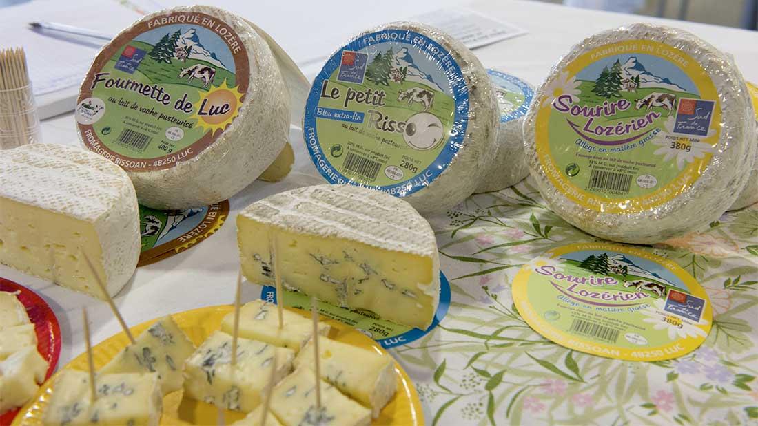 De nombreux fromages locaux cévenols et lozèriens