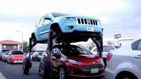 Insolite : Une Jeep «saute-bouchon »