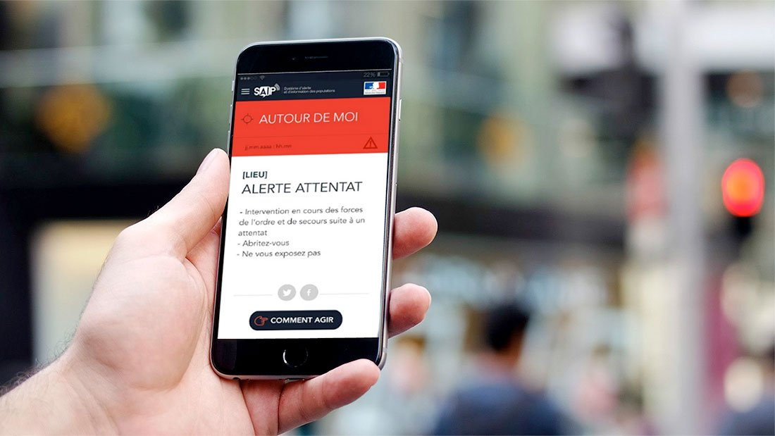 l'application SAIP alerte attentat