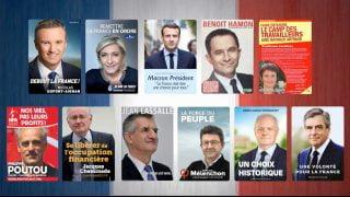 Affiches des candidats pour la présidentielle