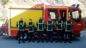 Patrick Michel au Centre incendies et Secours de Bessèges