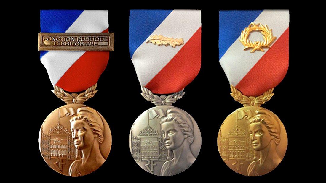 Des médailles d'or, d'argent et de bronze comme récompense