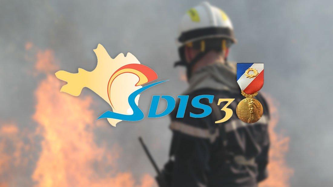 Médaille de la sécurité intérieure à 7 sapeurs-pompiers gardois,