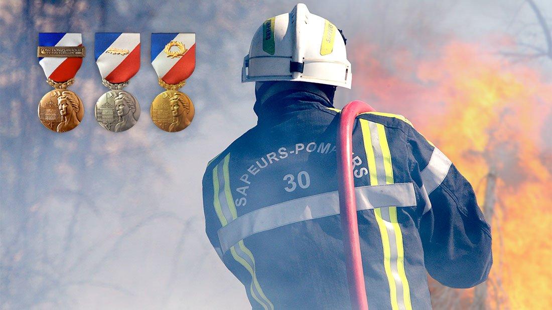 Médaille de la sécurité intérieure à 7 sapeurs-pompiers gardois
