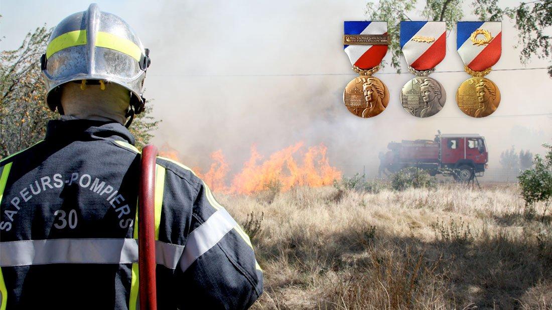 Récompenses pour sept pompiers gardois