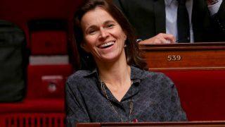La députée Aurelie Filippetti à l'Assemblée Nationale