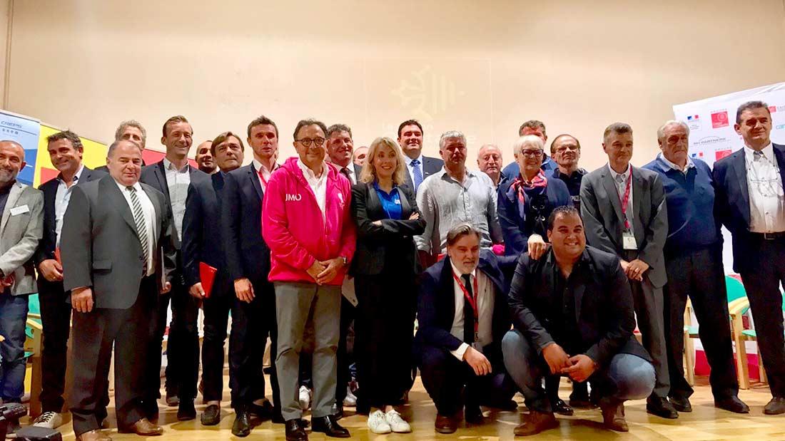 Reunion de 30 présidents des clubs professionnels sportifs d'Occitanie à Font-Romeu