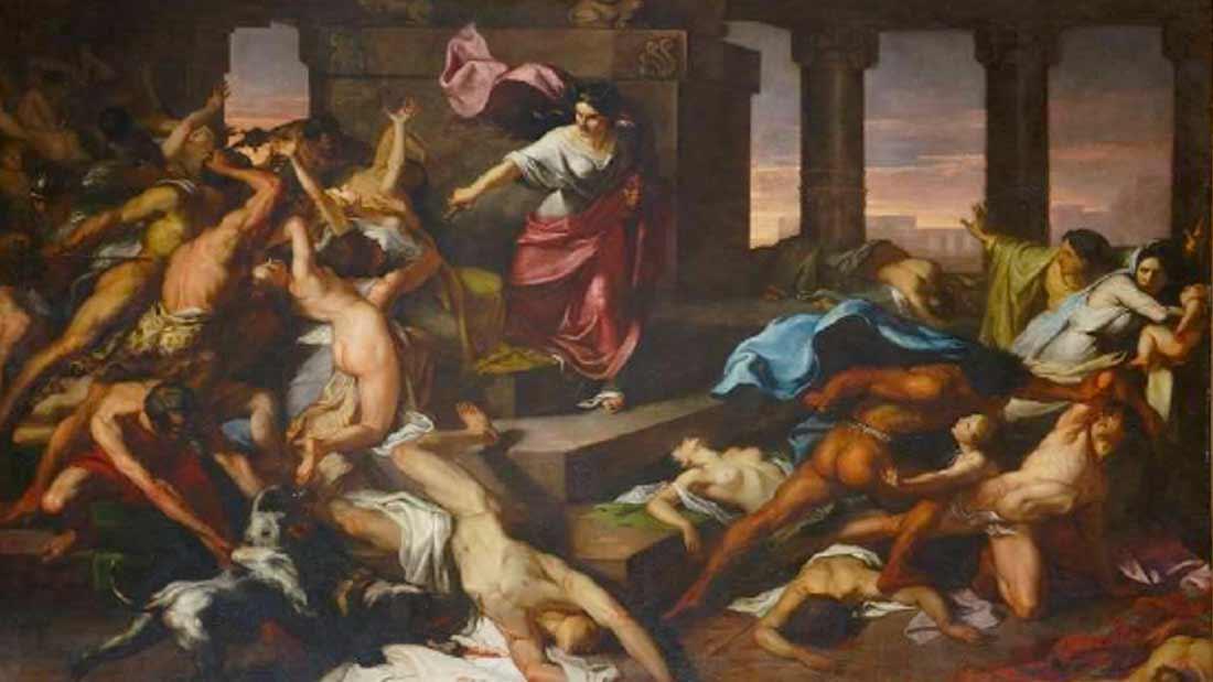 athalie tableau de xavier sigalon peintre francais 1787 1837