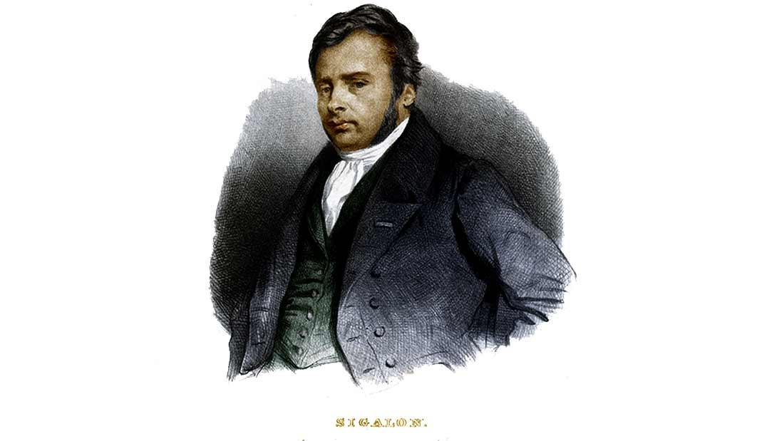 portrait de xavier sigalon, peintre francais 1787 1837